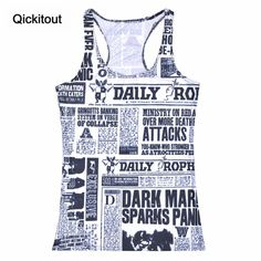 Now available on our store: Summer Women Blou... Check it out here! http://www.iramstore.in/products/summer-women-blouses-strapless-sleeveless-digital-print-casual-news-newspapers-words-tank-top?utm_campaign=social_autopilot&utm_source=pin&utm_medium=pin