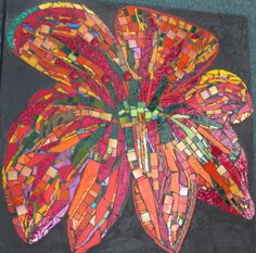 A wild flower a mosaic by kat gottke