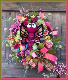 Wreaths For Front Door, Door Wreaths, Wreath Making Supplies, Creative Box, Tulle Wreath, Butterfly Decorations, I Adore You, Trendy Tree, Deco Mesh Wreaths