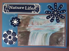 A Pretty Talent Blog: Cardmaking: Watercolours - Waterfall Water Puddle, Watercolor Pans, Largest Waterfall, Flat Brush, Watercolours, Cardmaking, Arts And Crafts, Crafty, Artist