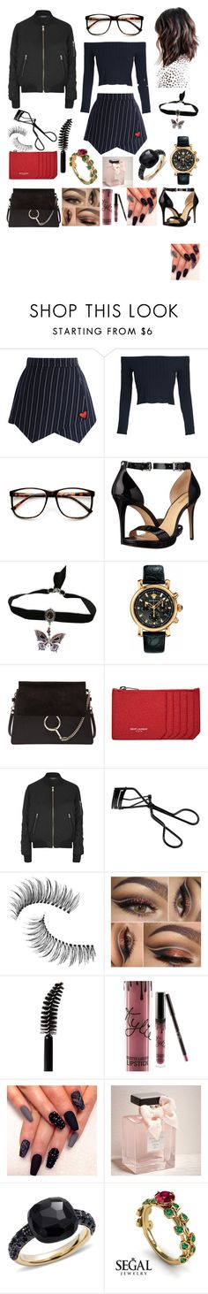 """""""Shout Out to My Ex."""" by jennerfurr on Polyvore featuring Chicwish, WithChic, ZeroUV, MICHAEL Michael Kors, Versace, Chloé, Yves Saint Laurent, Topshop, Bobbi Brown Cosmetics and Trish McEvoy"""