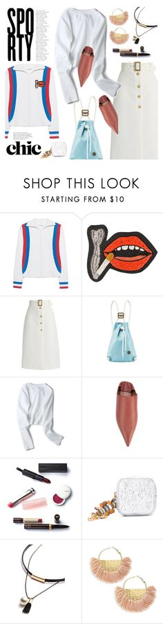 """""""Sporty Chic"""" by watereverysunday ❤ liked on Polyvore featuring Circus Hotel, Olympia Le-Tan, Bella Freud, IF Bags, Marni, Christian Dior, Anya Hindmarch, Jardin, sporty and mules"""