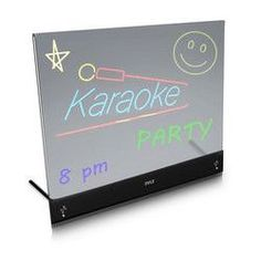 Erasable Desktop Illuminated LED Writing Board w/ Remote Control and 8 Fluorescent Markers