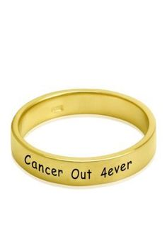 Belk  Co.  14k Yellow Gold Cancer Out 4Ever Band