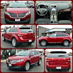 New 2015 Lincoln MKX in Ruby Red Metallic. AWD.