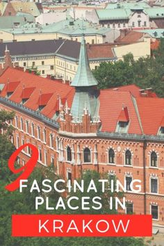 Planning a trip to Krakow? Make sure you check out our top 9 most fascinating places in Krakow to check out! Definitely worth exploring on your trip! Travel Around Europe, Europe Travel Tips, European Travel, Places To Travel, Travel Destinations, Places To Visit, Holiday Destinations, Travel Guide, Danzig