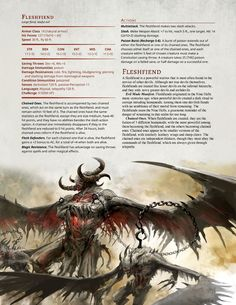 DnD 5e Homebrew — Dark Arts Player's Companion Monsters Part 2 by...