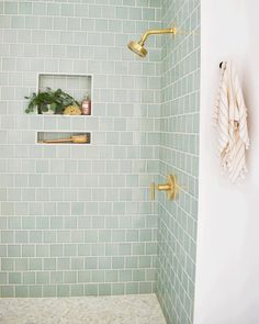 Bathroom interior design 386183736798940156 - I'm intrigued by this tile color, but not necessarily a fan of the gold fixtures Source by Bathroom Renos, Laundry In Bathroom, Master Bathroom, Bathroom Ideas, Bathroom Renovations, Bathroom Tile Colors, Washroom, Bathroom Designs, Bathroom Storage