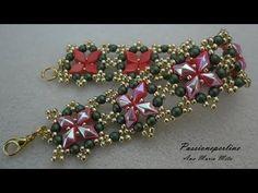 DIY - TUTORIAL Bracciale Agrifoglio   DiamonDuo bracelet - YouTube