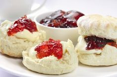Devon Scones with Cream and Jam. Devon Scones A Heavenly Treat for Tea Time! Recipe for scones.