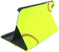 Softball iPad Mini Cover Case - Actual softball leather with real red stitching