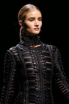 Balmain   Fall 2014 Ready-to-Wear Collection   Style.com// really cool collection// love the necklaces and bracelets