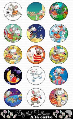 Toopy and Binoo 1 inch digital collage sheet 3rd Birthday Parties, Birthday Party Decorations, 4th Birthday, Party Themes, Birthday Ideas, Birthday Cakes, Party Ideas, Kids Shows, Collage Sheet
