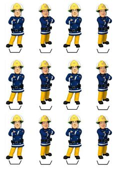 Fireman Sam Birthday Cake, Fireman Party, Firefighter Birthday, 3rd Birthday Parties, Birthday Party Decorations, Boy Birthday, Godchild, Rice Paper, Cupcake Toppers