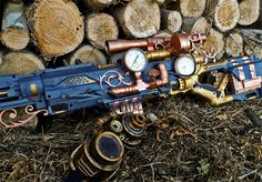 Cool this NERF steampunk rifle !