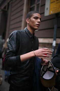 leather shirts. yumm
