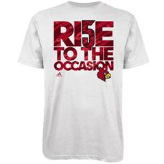 adidas Louisville Cardinals #5 2013 Final Four Rise To The Occasion T-Shirt- great look!