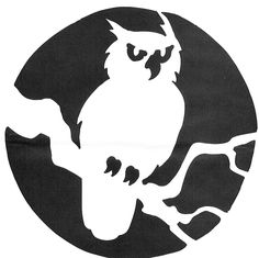 Owl Template for Pumpkin Carving