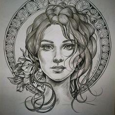 Art Nouveau illustration, by Laila