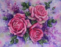 Roses and Lilacs Painting