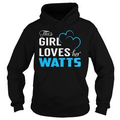 This Girl Loves Her WATTS - Last Name, Surname T-Shirt