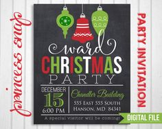 Downloadable Christmas Party Invitations Templates Free Prepossessing Printable Red & Green Striped Christmas Party Invitation Template .