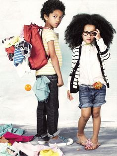 #kids #fashion #hair #style #stripes #beauty