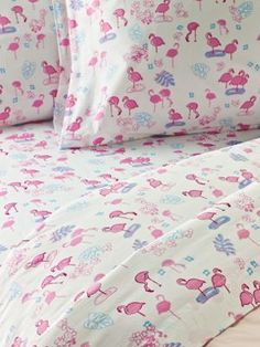 Flamingo Cotton Percale Sheets  {}