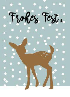 Weihnachtskarten - Xmas Card BAMBI - ein Designerstück von Heimwerk_Design bei DaWanda