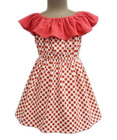 Red Polka Dot Celia Dress - Infant Toddler & Girls