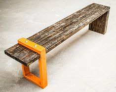 Items similar to Industrial Bench, St. Aubin Bench, handcrafted vintage bench on Etsy Industrial Modern Bench Industrial Bench, Industrial Furniture, Vintage Industrial, Wood Furniture, Modern Furniture, Furniture Design, Industrial Closet, Industrial Windows, Rustic Bench