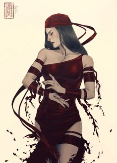 ladyilena:  A little piece to celebrate beautiful Elektra #1! I fell in love as soon as I saw the comic. I highly recommend— it's absolutely stunning. :) <3