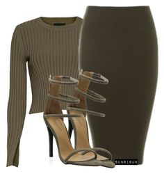 Khaki by sunrisun on Polyvore featuring polyvore fashion style Exclusive for Intermix clothing
