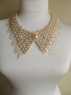 Hey, I found this really awesome Etsy listing at https://www.etsy.com/listing/119607577/peter-pan-collar-necklace-beads-bridal