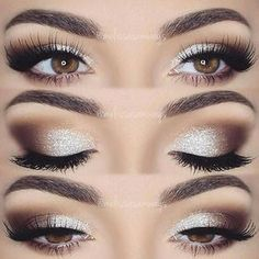 Eye makeup will complement your beauty and also make you look and feel amazing. Find out just how to use make-up so that you can show off your eyes and make an impression. Learn the best ideas for applying make-up to your eyes. Wedding Makeup For Brown Eyes, Best Wedding Makeup, Wedding Hair And Makeup, Hair Makeup, Makeup For Brides, Eye Makeup For Prom, Makeup Looks For Prom, Makeup Looks For Brown Eyes, Makeup For Party