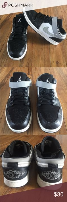 NIKE AIR JORDAN SNEAKERS Pre- Loved, Used, but still has a lot of life left, Still in good conditions, they may just need a new pair of laces, and will look great again, shows some scratches on the leather area, but nothing to bad, no signs of rips of tears at all, they are high quality shoes, my husband just have to many pairs. I just washed them, so they are clean and ready to be wear. Any questions please let me know. Air Jordan Shoes Sneakers