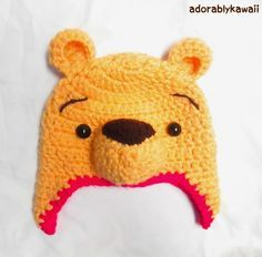 Winnie the Pooh Crochet Hat Pattern for Toddler (+ sizing guide)   Tiny Moon (free crochet pattern )