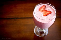 Strawberry Shake Recipe | Mom Spark™ - A Blog for Moms - Mom Blogger