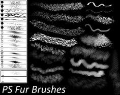 PS Fur Brushes by Dark-Zeblock.deviantart.com on @DeviantArt