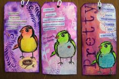 More Dina Wakely, the new Scribbly Birds stamps.  Love them!