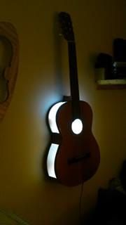 Upcycled Guitar Wall light. by 1manstrashTreasures on Etsy