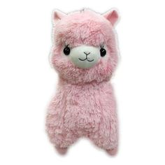 Big Fluffy Alpacasso Plushie (Milky Pink) ❤ liked on Polyvore featuring fillers, plushies, peluche and toys