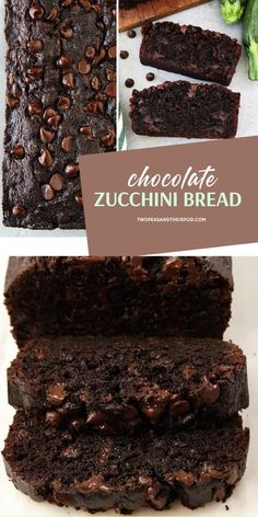 Chocolate Zucchini Bread is a new favorite food this spring season! This easy spring recipe is moist and chocolatey, it will remind you of your favorite chocolate cake. You will never know it is made with a vegetable! Save this and try it! Kiss Cookie Recipe, Cookie Recipes, Dessert Recipes, Kiss Cookies, Chocolate Recipes, Chocolate Cake, Chocolate Bread Recipe, Decadent Chocolate, Chocolate Chip Zucchini Bread