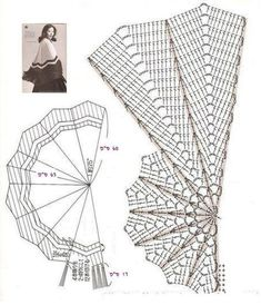 Ridiculously easy chart for a half circle, ripple style crochet shawl. Ridiculously easy chart for a half circle, ripple style crochet shawl. Perfect for self-striping or handspun yarn. Crochet Bolero, Crochet Shawl Diagram, Crochet Cape, Crochet Ripple, Crochet Motifs, Crochet Shawls And Wraps, Crochet Stitches Patterns, Crochet Scarves, Crochet Clothes