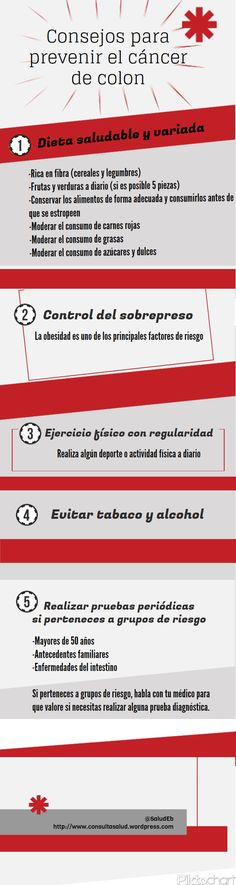 Consejos para prevenir el cáncer de colon Health And Nutrition, Health And Wellness, Health Care, Health Fitness, Get Healthy, Healthy Tips, Life Care, Cervical Cancer, Natural Home Remedies