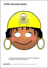 Pirate role-play masks (SB1177) - SparkleBox