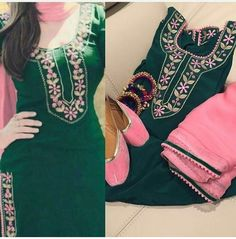 Check out this post - post created by Mahi Randhawa and top similar posts, trendy products and pictures by celebrities and other users on Roposo. Punjabi Suits Designer Boutique, Boutique Suits, Indian Designer Outfits, A Boutique, Patiala Salwar Suits, Salwar Suits Party Wear, Churidar, Embroidery Suits Punjabi, Embroidery Suits Design