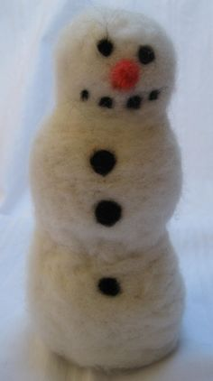 Eric the Needle Felted Snowman Holiday Home by KnitwitDesignsUK, £15.00