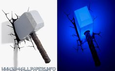 Thor Hammer 3D Deco LED Wall Light        >>> Great deal   http://amzn.to/2bTMMQp