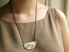 Porcelain Jewelry  Ceramic Mini Bib Triangles by chelseyladams